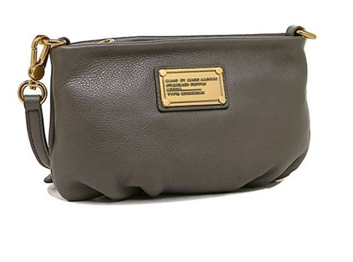 Marc by Marc Jacobs Classic Q Percy Cross Body Handbag, Faded Aluminum One Size
