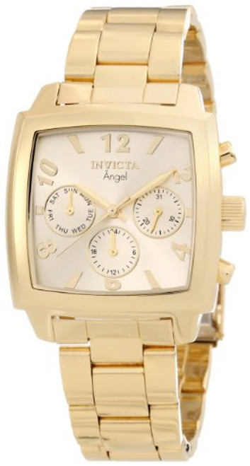 Invicta Women's 12101 Angel Gold Dial 18k Gold Ion-Plated Stainless Steel Wat...