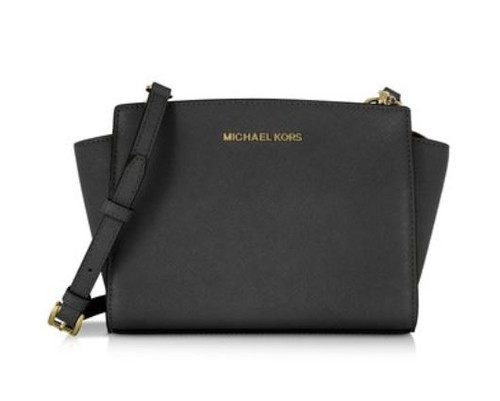 MICHAEL Michael Kors Women's Selma Medium Messenger Bag, Black, One Size 30T3GLMM2L-001