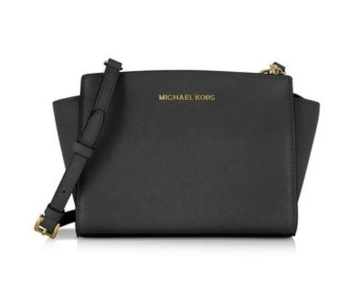 MICHAEL Michael Kors Women's Selma Medium Messenger Bag, Black, One Size 30T3GLMM2L-001