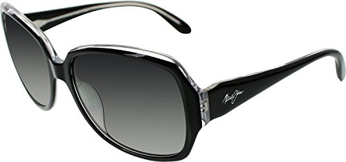 Maui Jim Women PerformanceHer Black Shiny/Grey Sunglasses 57mm