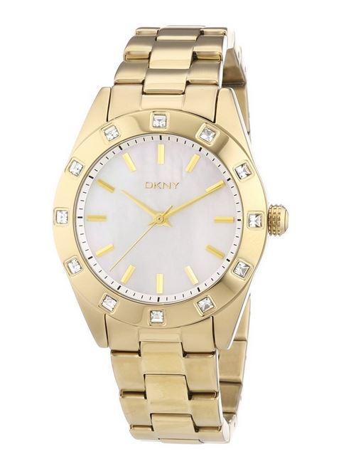 DKNY Ladies Stone Set Gold Tone Bracelet Watch NY8661 [Watch] DKNY