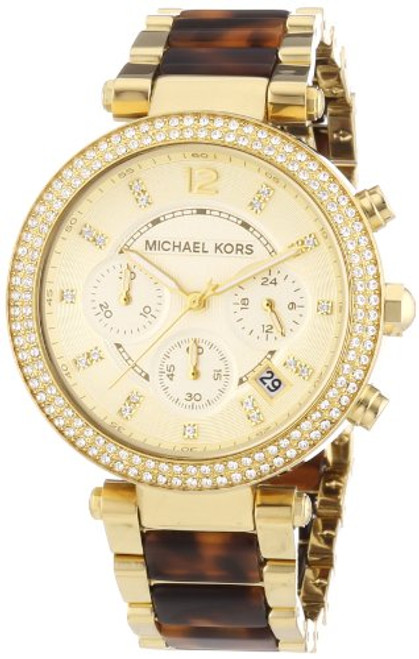 Michael Kors Collection Women's MK5688 - Parker Chronograph Gold /Tortoise Wa...