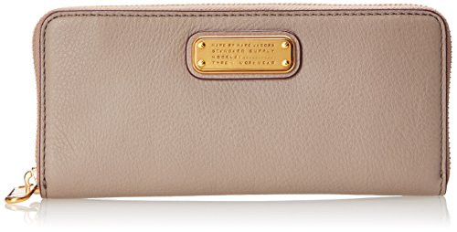 Marc by Marc Jacobs New Q Slim Zip Around Wallet, Cement, One Size