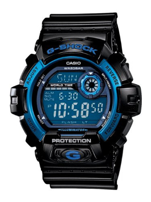 Casio Men's G8900A-1CR G-Shock Black and Blue Resin Digital Sport Watch [Watc...