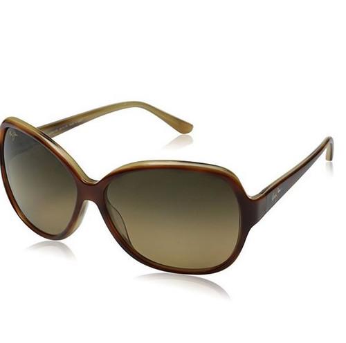 Maui Jim Maile Polarized Sunglasses - Women's Tortoise with Ivory Demi / HCL Bronze One Size …