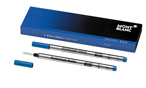 Mont Blanc Rollerball Refill, Fine 2X1, Pacific Blue (105163) …