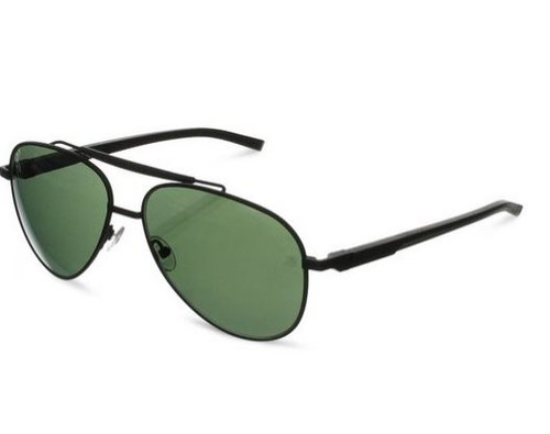 TAG Heuer Automatic Aviator Sunglasses Black with Green Outdoor Lens 0881 301 60mm