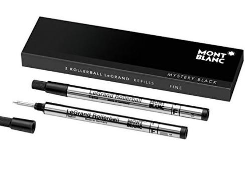 Mont Blanc Rollerball Refill, Legrand Fine, 2X1, Mystery Black (105166) …