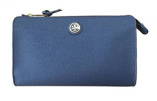 Tory Burch Cameron Easy Coated Canvas Cross-body & Clutch (Hudson Bay Blue) 18169280-482