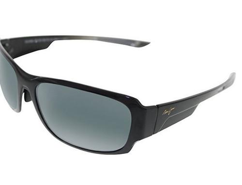 Maui Jim Sunglasses - Bamboo Forest / Frame: Gloss Black Fade Lens: Neutral Grey …