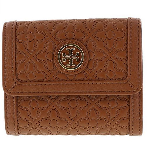 Tory Burch Bryant Mini Wallet in Quilted Leather, Style No 34031 (Luggage) 34031-210