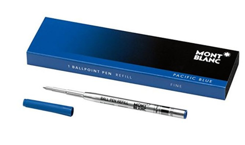 Mont Blanc Ballpoint Refill 1X1, Pacific Blue, Fine (105155)