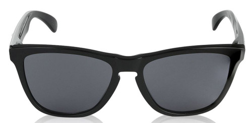 Oakley Mens Frogskins 24-306 Cat Eye Sunglasses,Polished Black Frame/Grey Lens,55 mm