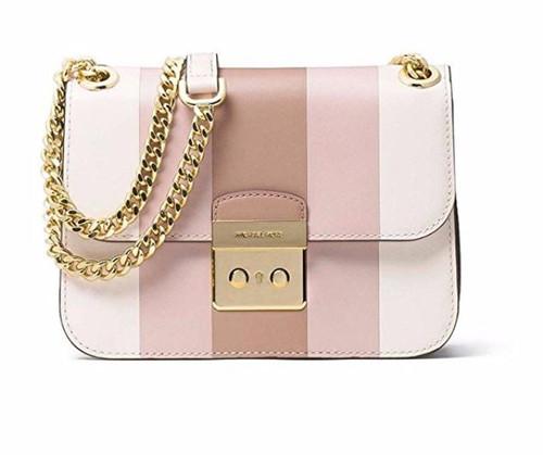 MICAHEL KORS Multi-Striped Leather Shoulder Bag (Pink Multi) 30S7GIKL2T-186