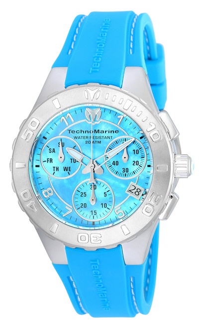 TechnoMarine Cruise Medusa Chronograph Blue Dial Ladies Watch 115084