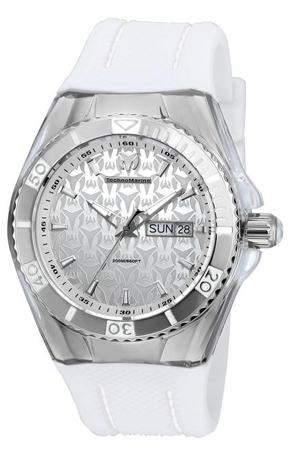 Technomarine Men's TM-115209 Cruise Monogram Quartz Silver Dial Watch