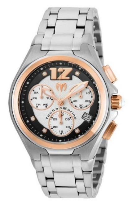 Technomarine Men's TM-215011 Manta Neo Classic Quartz Black, Silver Dial Watch