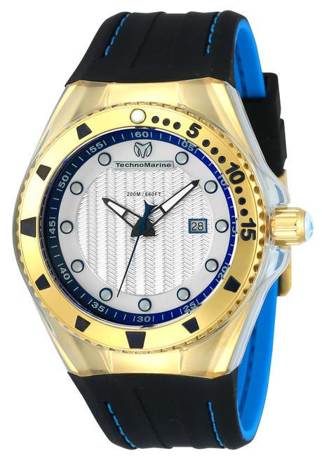 Technomarine Men's TM-115220 Cruise Locker Quartz Silver Dial Watch