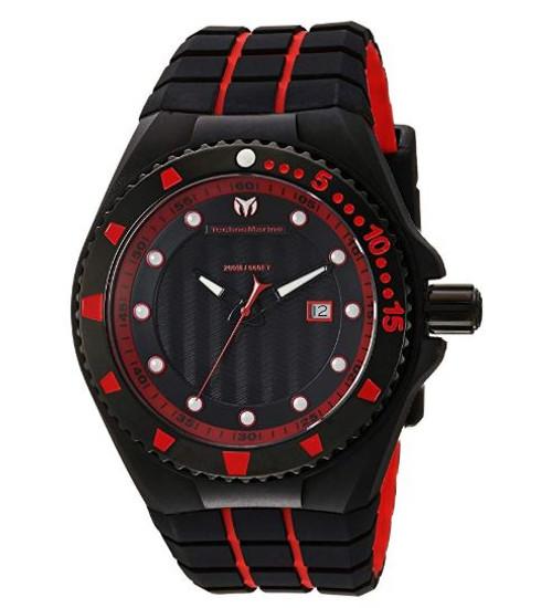 Technomarine Men's TM-115219 Cruise Locker Quartz Black Dial Watch