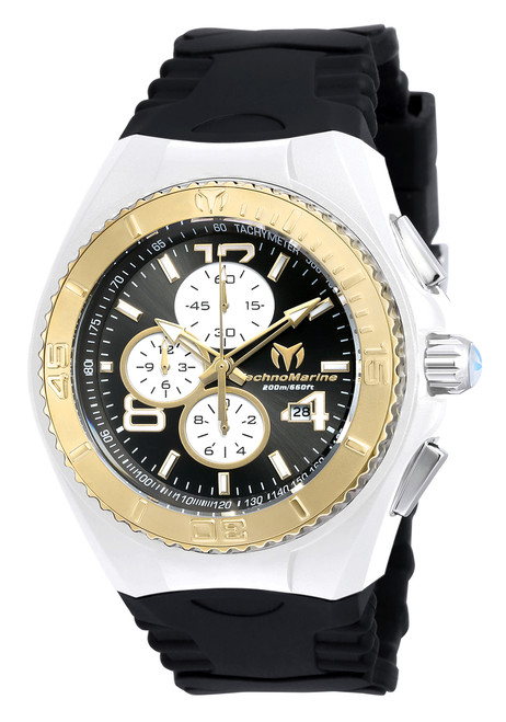 TechnoMarine Men's TM-115302 Cruise JellyFish Quartz Multifunction Black Dial Watch