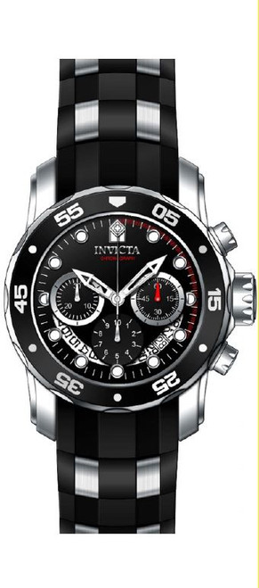 Invicta Men's 'Pro Diver' Quartz Stainless Steel and Silicone Automatic Watch