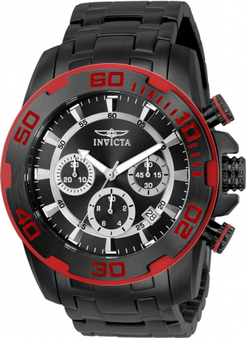 Invicta Men's 22323 Pro Diver Quartz Chronograph Black Dial Watch
