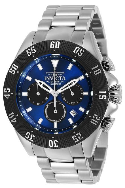 Invicta Men's 22393 Speedway Quartz Chronograph Blue, Black Dial Watch