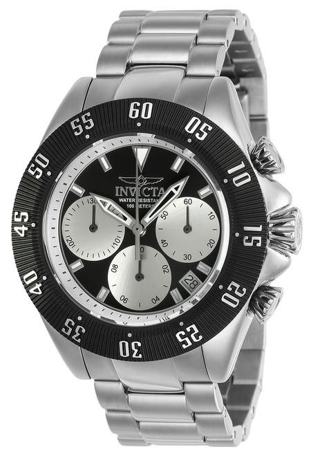 Invicta Men's 22396 Speedway Quartz Chronograph Silver, Black Dial Watch
