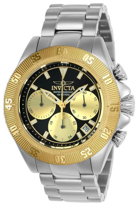 Invicta Men's 22399 Speedway Quartz Chronograph Black, Gold Dial Watch