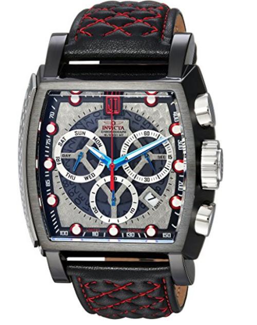 Invicta Men's 22377 Jason Taylor Quartz Chronograph Silver, Red Dial Watch