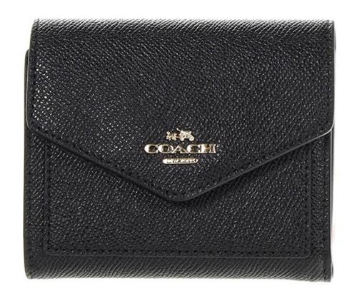 COACH Women's Crossgrain Leather Small Wallet Li/Black Wallets 58298-LIBLK