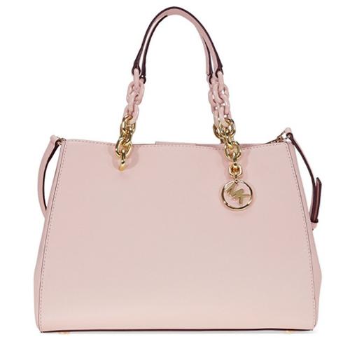 Michael Kors Cynthia Saffiano Leather Satchel - Soft Pink 30F7GCYS2L-187