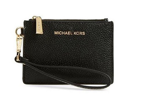 MICHAEL Michael Kors Mercer Small Coin Purse Black 32T7GM9P0L-187
