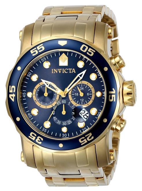 Invicta Men's 23651 Pro Diver Quartz Chronograph Blue Dial Watch