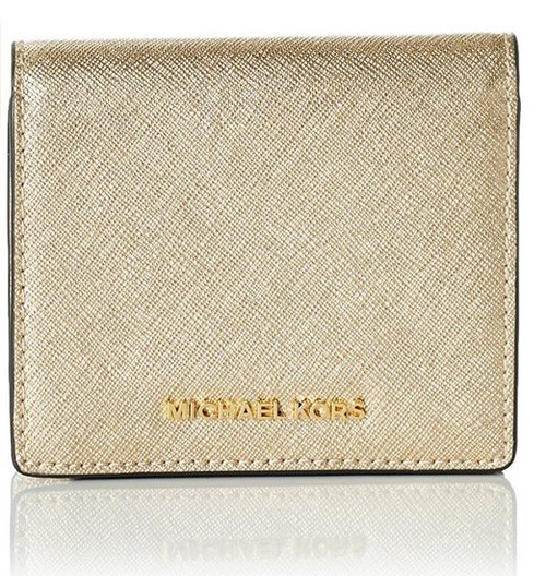 Michael Kors Women's Jet Set Carry All Card Case, Pale Gold 32T6MTVD1M-740