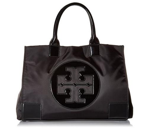 Tory Burch Womens Black Nylon Patent Leather Ella Tote BAG 50009811-009