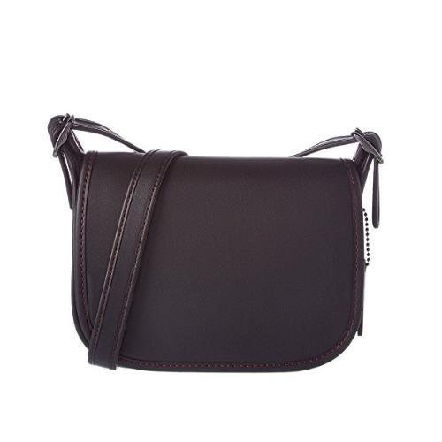 Coach Women's Leather 18 Saddle Bag, Dark Antique Nickel, Black, 57731-DKBLK