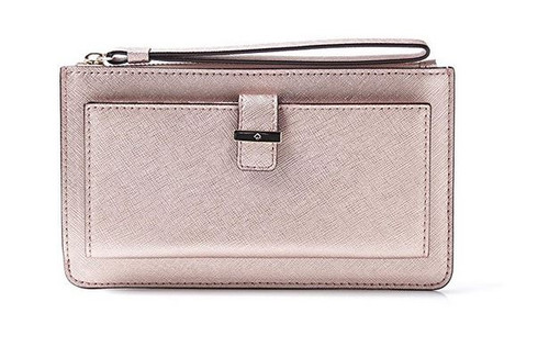 Kate Spade Cedar Street Karolina Leather Wallet Clutch Rose Gold PWRU4780-705