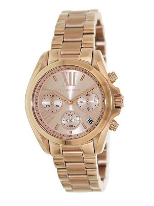 Michael Kor Women's MK5799 Bradshaw Rose Gold-Tone Stainless Steel Watch