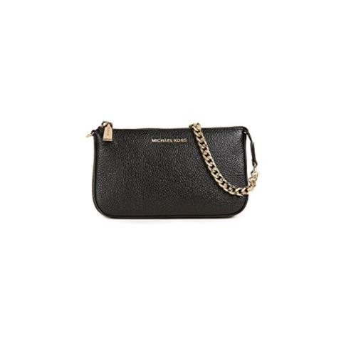 MICHAEL Michael Kors Women's Medium Chain Pouchette, Black, One Size