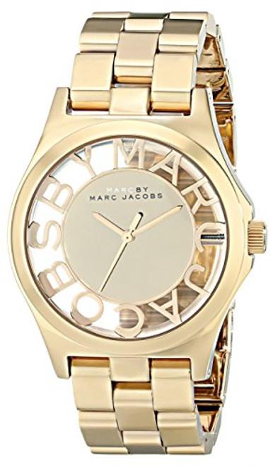 Marc by Marc Jacobs Women's MBM3206 Skeleton Gold-Tone Stainless Steel Bracelet Watch