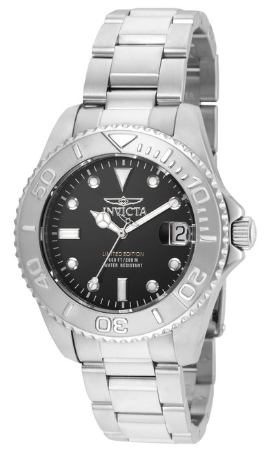 Invicta Women's 24631 Pro Diver Quartz 3 Hand Black Dial Watch