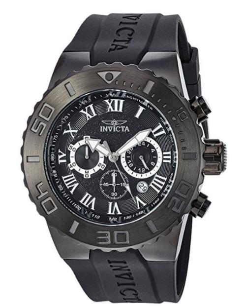 Invicta Men's 24779 Pro Diver Quartz Chronograph Black Dial Watch
