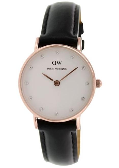 Daniel Wellington Women's 0901DW Classy Sheffield Analog Display Quartz Black Watch