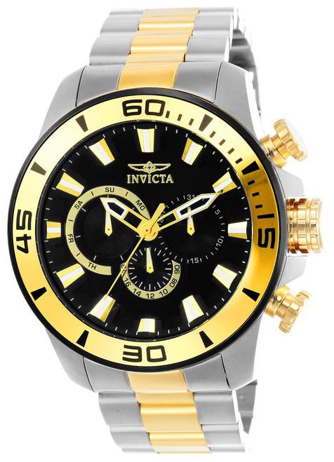 Invicta Men's 22588 Pro Diver Quartz Chronograph Black Dial Watch