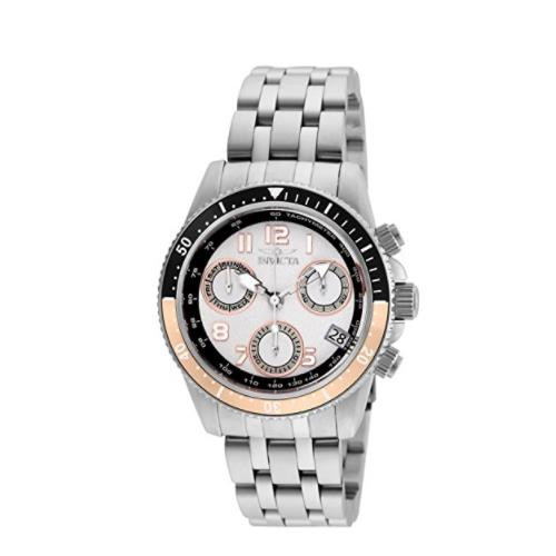 Invicta Women's 24638 Pro Diver Quartz Chronograph White Dial Watch