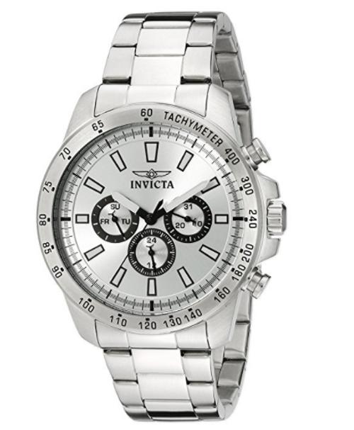 Invicta Men's 20336 Speedway Quartz Chronograph Silver Dial Watch