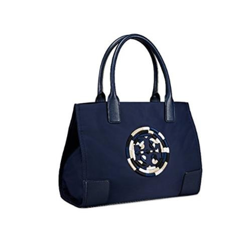 Tory Burch Ella Color-Block Mini Tote (Navy Embroidered) 46304-495
