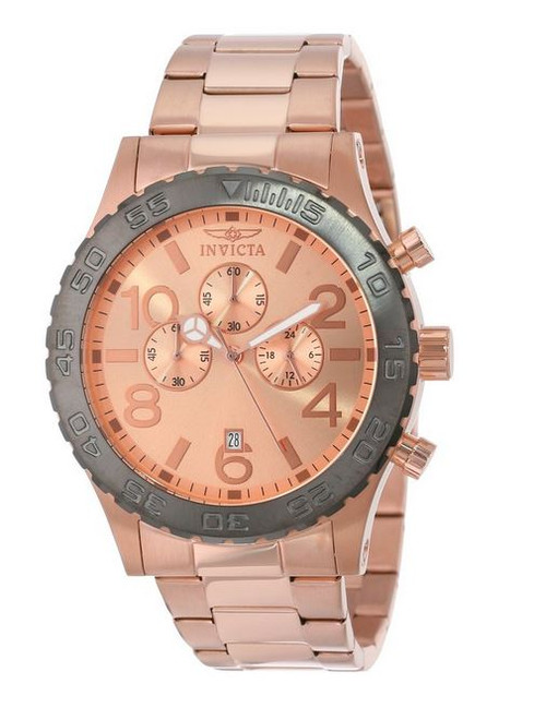 Invicta Men's 15161 Specialty Chronograph 18k Rose Gold Ion-Plated Stainless Steel Watch